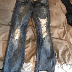 Parasuco boot cut distressed jeans